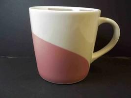 Starbucks coffee mug PASTEL WAVES 12 oz Cream & Grey Int Cream & Pink ex... - $7.80