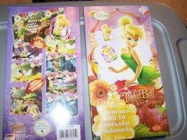 New Box of 16 Disney Tinkerbell Valentine's Day Cards w Bookmarks - $7.50