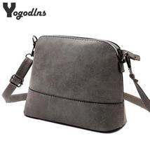 Fashion Women'S Messenger Bag Scrub Shell Bag Nubuck Leather Small Cross... - $12.46