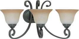 "Montgomery ORB Bronze Wall Light Glass Shades 24""Wx12""H - $159.99"