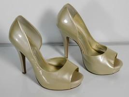 Jessica Simpson Acadia Platform Pumps Heels Women's Size 6B Leather Color Beige - $25.73
