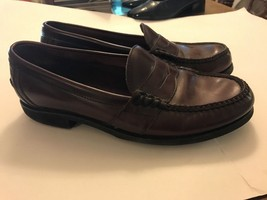 Rockport Leather Loafer Size 11 Brown/Burgundy M2567 Slip Ons Shoes Mens - $15.00