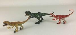 Jurassic Park Movie Dinosaur Mini Figures 3pc Lot Prehistoric 2000 Hasbro Toys - $16.88