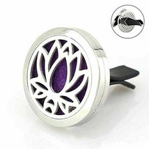 Car Vent Diffuser Clip Lotus Essential Oils Aromatherapy on the Go! - $13.22