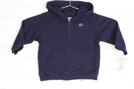 Baby Bgosh Navy Blue Hoodie Zip Up Sweater Long Sleeve Baby Boys Size 12 Months - $15.83