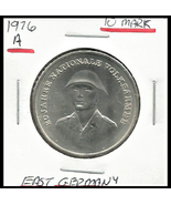 """1976 A, East Germany (GDR) 10 Mark Commemorative""""People's National Army""""... - $5.52"""