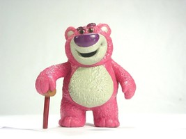 Disney Toy Story bear Lotso pink mean villain  Action figure pvc Cake to... - $11.79