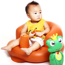 Built-in Pump Portable Baby Pouf Kids Bath Seat Chair Baby Inflatable So... - $31.28