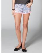 Freestyle Deedee Tiedye Cutoff Denim Shorts Size 7 Brand New - $20.89