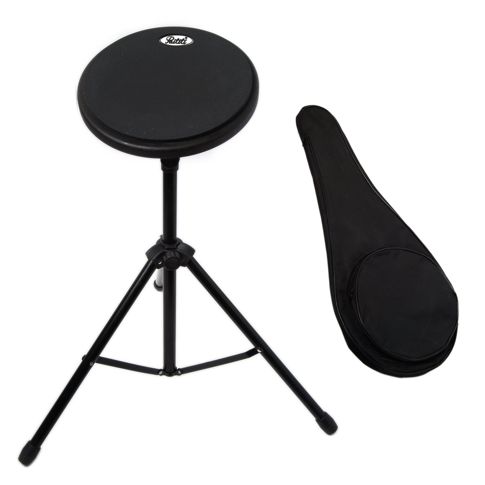 Paititi 8 inch Practice Drum Pad with Adjustable Stand & Carrying Bag (Green)