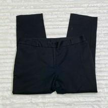 Womens Anne Klein Dress Pants Black Size 12 Ankle Thick  - $16.14