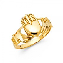 Men's 14K Yellow Gold Claddagh Ring - $219.99+