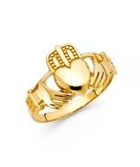 Men's 14K Yellow Gold Claddagh Ring - $262.99+