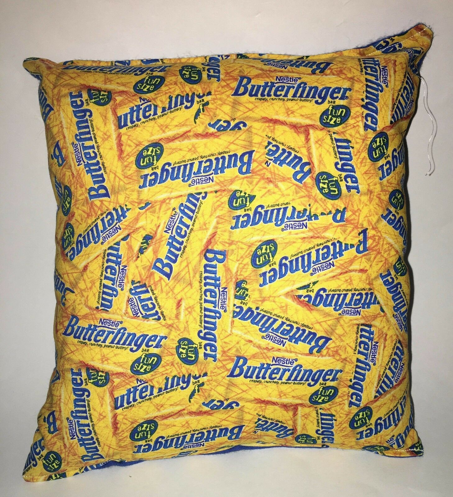 Butterfinger Pillow Nestle Butterfingers Candy Pillow HANDMADE Man Cave Pillow image 1