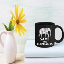 Save The Elephants Mugs Elephant Lovers Gift - $15.95