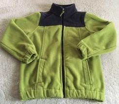 Children's Place Boys Gray Green Thick Fleece Winter Long Sleeve Jacket Coat 7-8 - $14.52