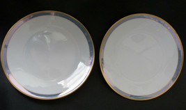 "2 Rosenthal Gala Blue Classic Rose Dessert Plates 6 3/4"" Loewy Mid Century - $35.99"