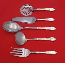 Rose Point by Wallace Sterling Silver Thanksgiving Serving Set 5pc Custom Made - $359.00