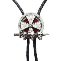 New Western Cowboy Cowgirl Celtic Cross Bolo Tie Costume Cosplay Necklace - $9.89