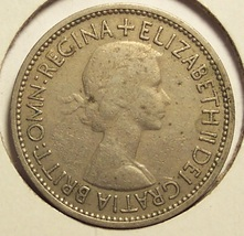 KM#892 Great Britain 1953 Florin (2 Shillings) #0108 - $1.49