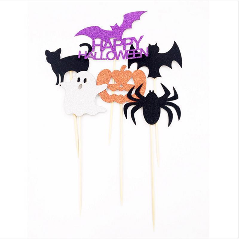 6pc Pumpkin Ghost Cat Spider Halloween Party Decorations Kids Halloween Diy Cake