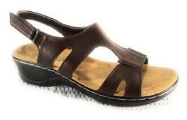Pierre Dumas ALEISHA Sandal Brown Wedge Hook and Loop Shoe Size 8 - $24.45