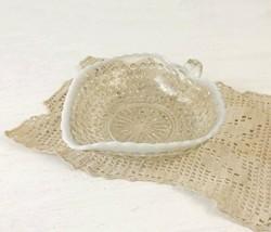 Fenton Moonstone Heart Shape Glass Bowl Opalescent Hobnail - $12.99
