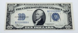 Series of 1934-C $10 Silver Certificate Julian/Snyder AU++ Condition - $89.09