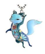 Luckeyui Blue Enamel Fox Necklaces & Pendants for Women Girls Cute Anima... - $15.98