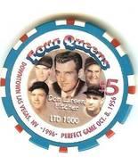FOUR QUEENS CASINO CHIP 5 DOLLAR yankees don larson LAS VEGAS NV - $14.99