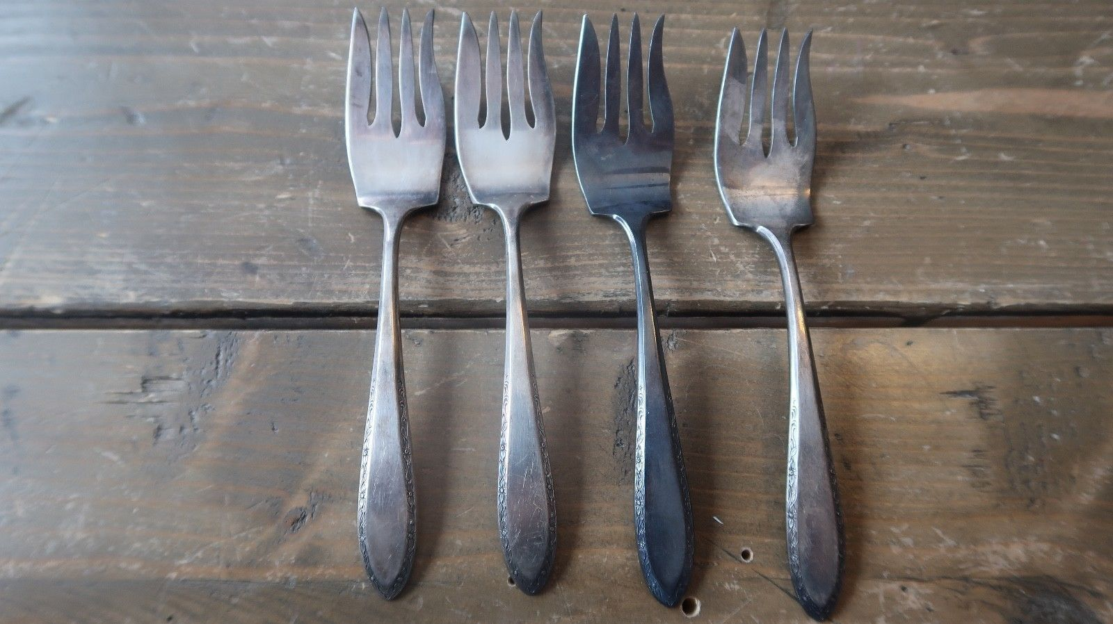 Primary image for Four Vintage Alvin Plate 6 inch Salad Forks