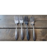 Four Vintage Alvin Plate 6 inch Salad Forks - $19.79