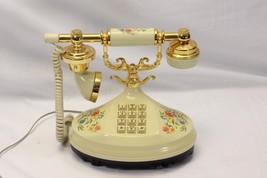 Empress Telephone 1973 Floral Push Button  Tested & Guaranteed - $58.04