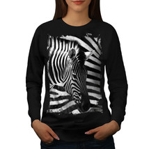 Safari Zebra Head Jumper Striped Style Women Sweatshirt - $18.99