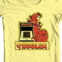 Nibbler T-shirt retro arcade video game 80s 100% cotton graphic yellow tee image 1