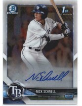2018 Bowman Draft Chrome Autographs #CDA-NS Nick Schnell Rays RC AUTO - $22.49