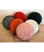 NW SOFT LEATHER ROUND Flower Embossed WRISTLET ... - $14.99