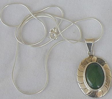 Primary image for Green agate pendant
