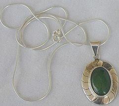 Green agate pendant - $33.00