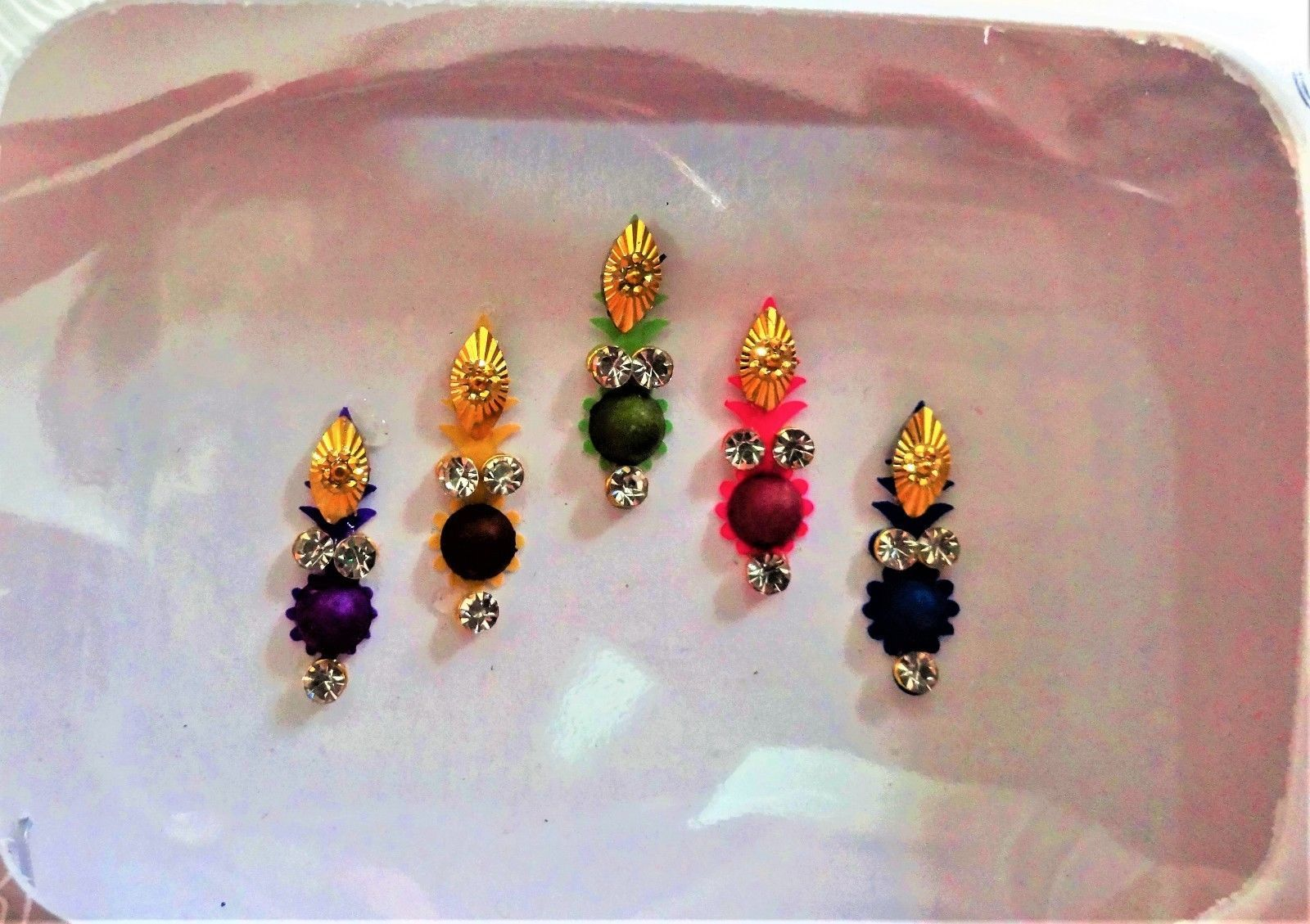 Sticker Bindi Multi Color Crystal Temporary And 50 Similar Items Tatto Hb577 Tattoo Ear Nose Stud Bollywood Style