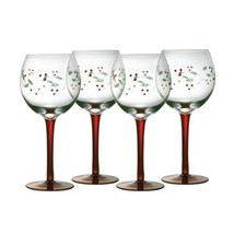 Pfaltzgraff Winterberry 13-ounce Handpainted Goblet, Set of 4 - $44.69