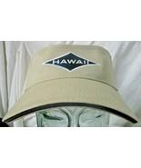 Surfware Hawaii Unisex Visor Hat Khaki Vacation Sun Cap - $16.82