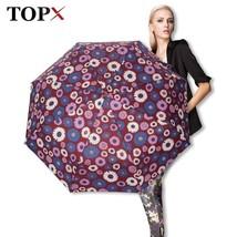 TopX® Creative Flower Automatic Umbrella Rain Unisex 3Fold Light And Dur... - $17.74