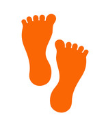 LiteMark 7 Inch Orange Removable Barefoot Decals for Floors and Walls 12... - $19.95