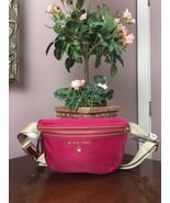 New Michael Kors Fanny Pack Waist Hot Pink Nylon Adjustable Belt Bag  B2U - $98.95