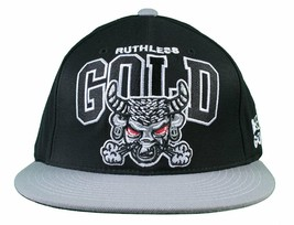 Gold M.V.P. Ruthless Beebull Black/Grey Starter Snapback Baseball Cap Hat NWT image 1