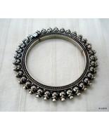 Traditional design sterling silver bangle bracelet cuff kundan jewellery - $266.31
