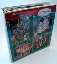 NeedleCraft Shop Afghan Collector Series Binder with 25 Crochet Patterns VTG '93 - $49.49