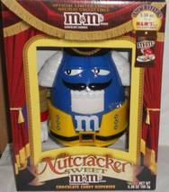 2011 M&M Blue Character Nutcracker Sweet Yellow Pants Holiday Candy Dispenser - $34.99