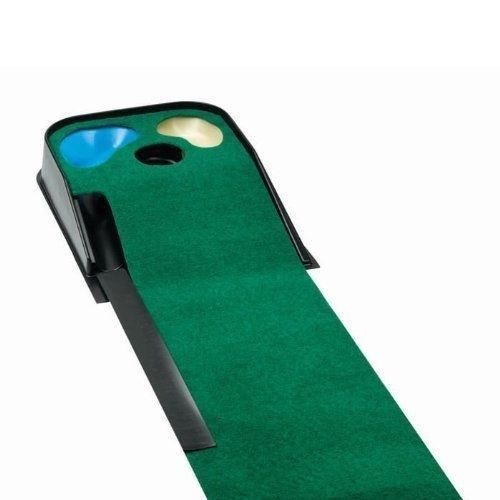 Primary image for JEF World Of Golf Hazard Deluxe Putting Mat Golf Trainer Automatic Ball Return